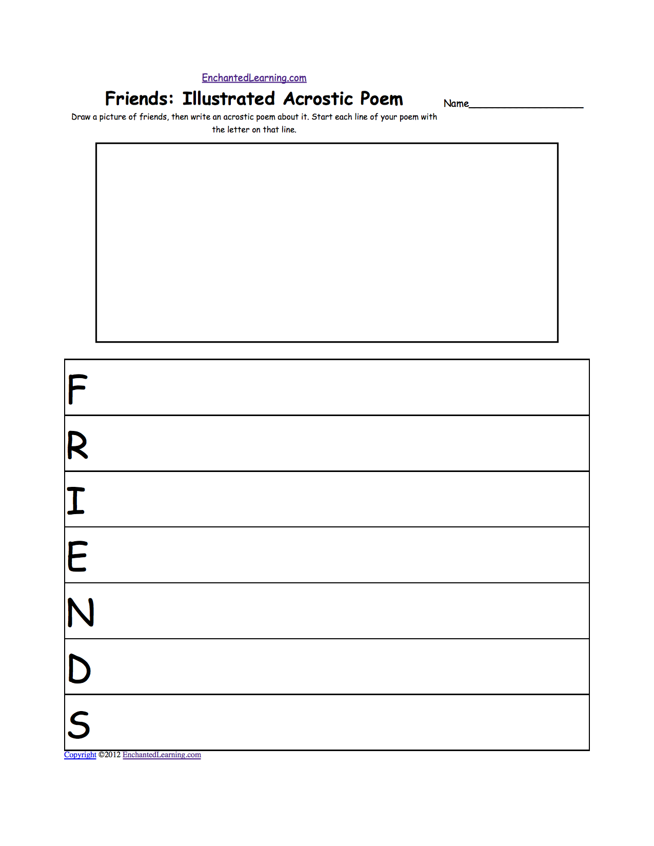 worksheet Poetry Worksheets Middle School poems and poetry enchantedlearning com