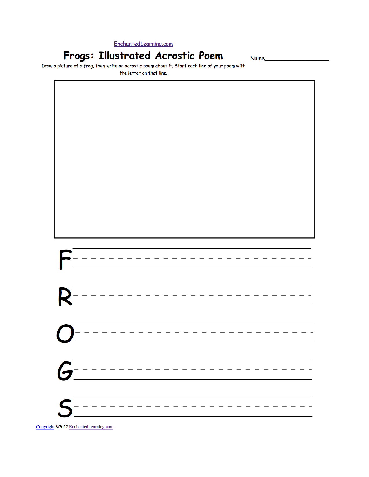 Frog: Illustrated Acrostic Poem