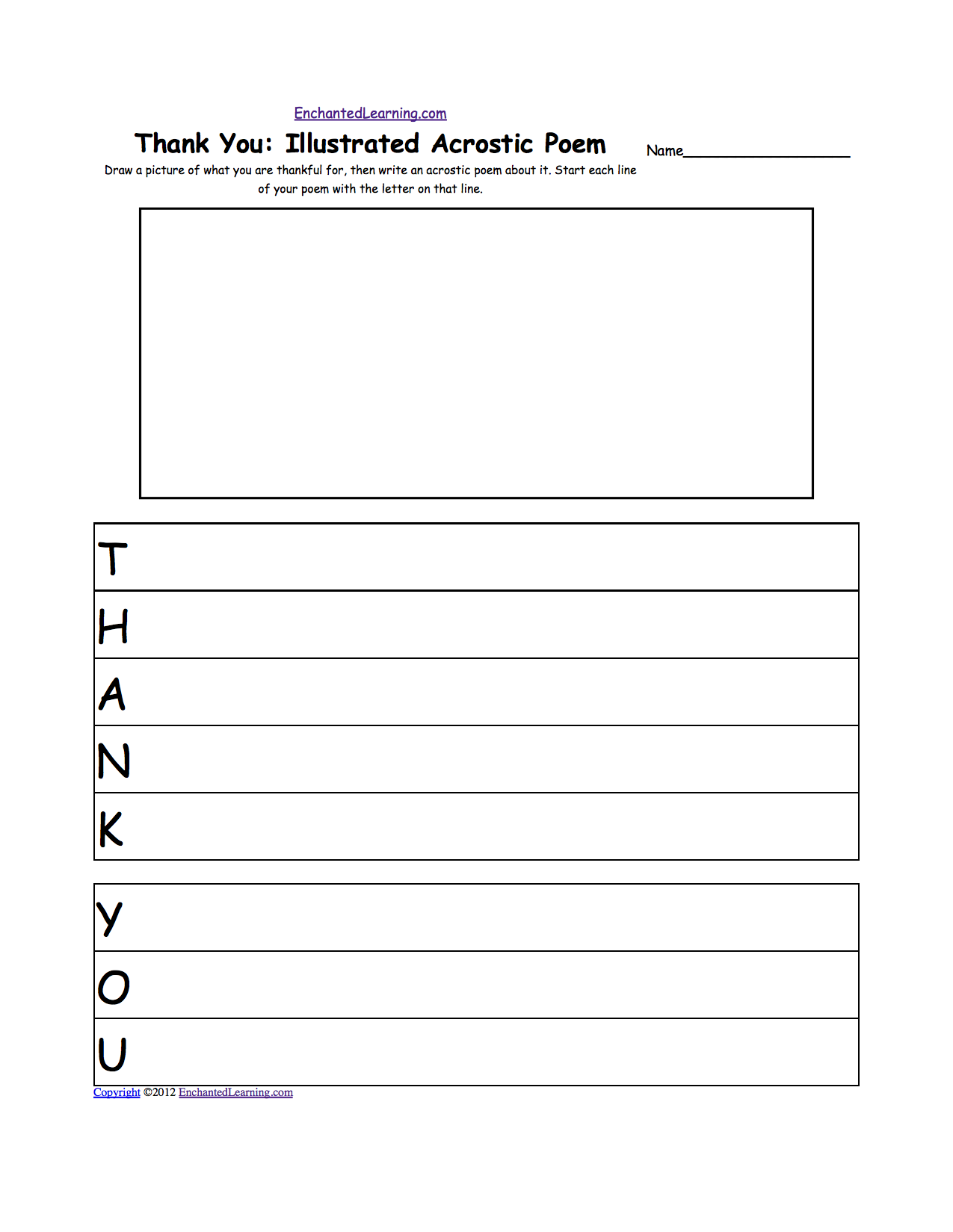 Thanksgiving Writing Worksheets  EnchantedlearningCom