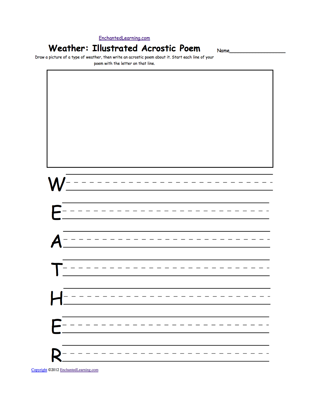 Weather Acrostic Poems: EnchantedLearning.com