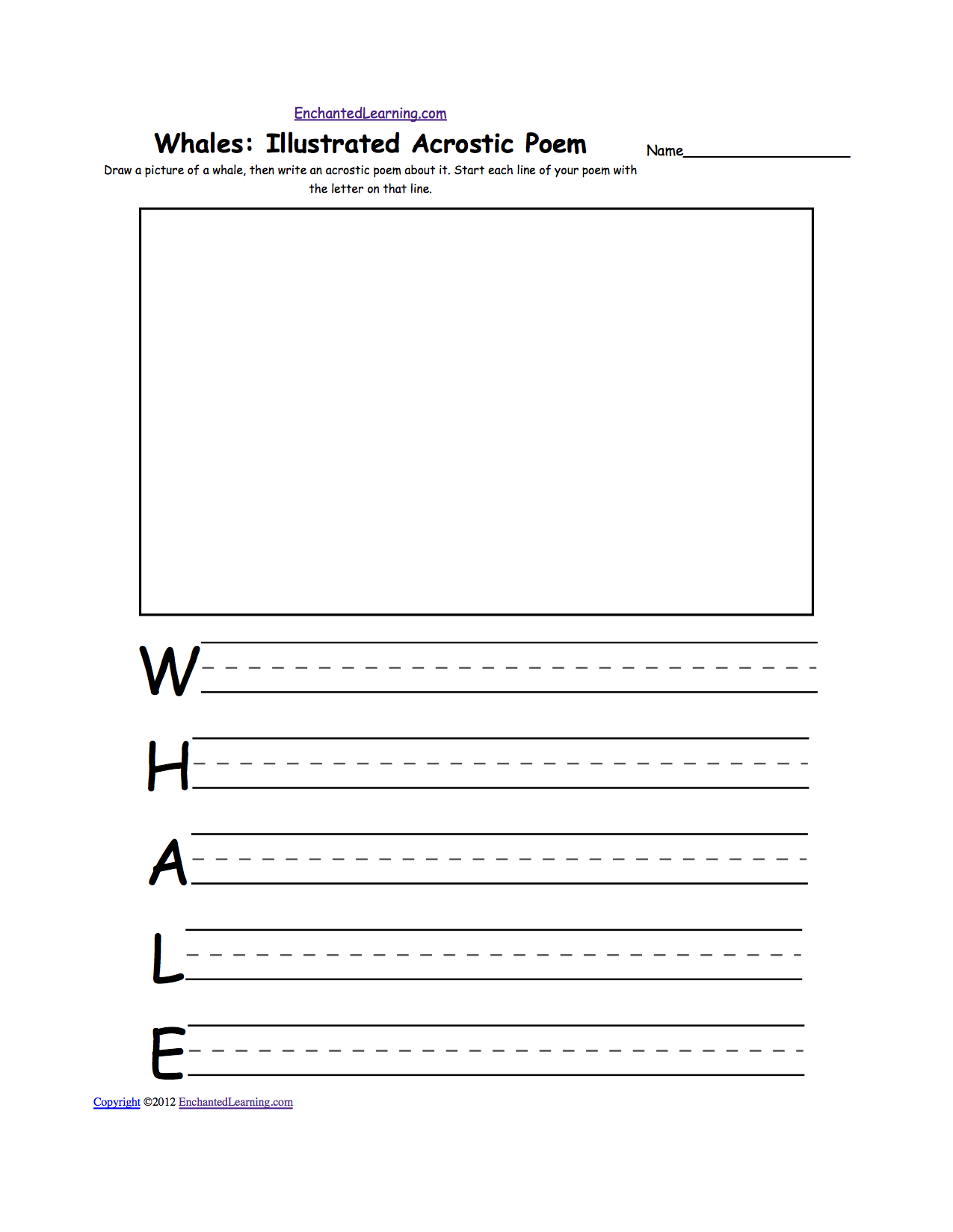 whale activities whales in the classroom enchantedlearning com