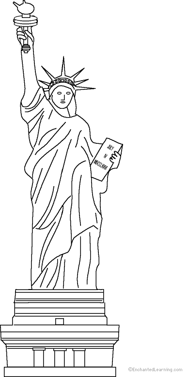 statue of liberty coloring page to print enchantedlearning com