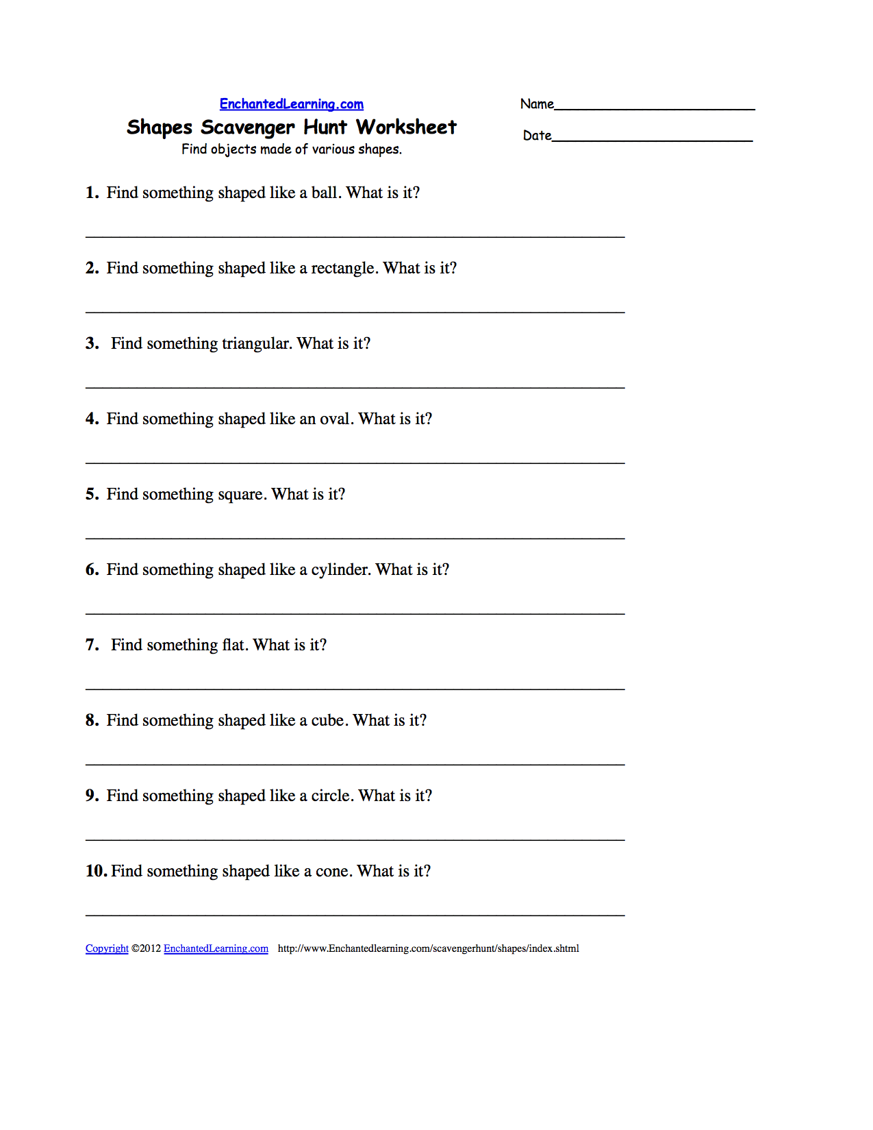 Textbook Scavenger Hunt Worksheet English
