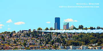 Blue Angel Zooming by Seattle