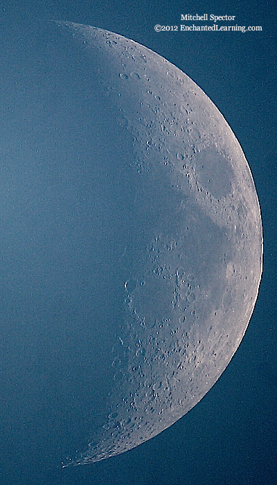 Waxing Crescent Moon, 30% Illuminated