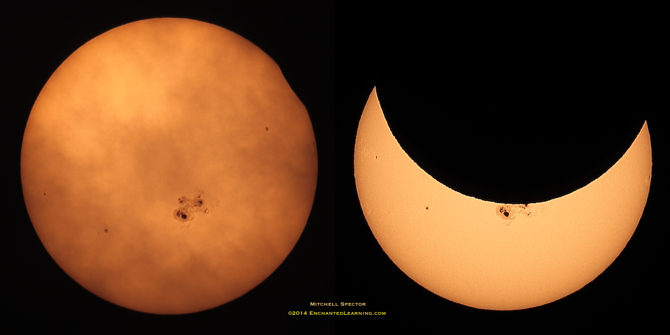 Partial Solar Eclipse: First Glimpse and Maximum