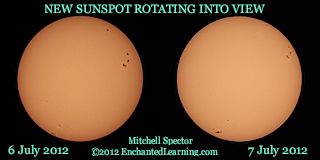 New Sunspot Rotating into View