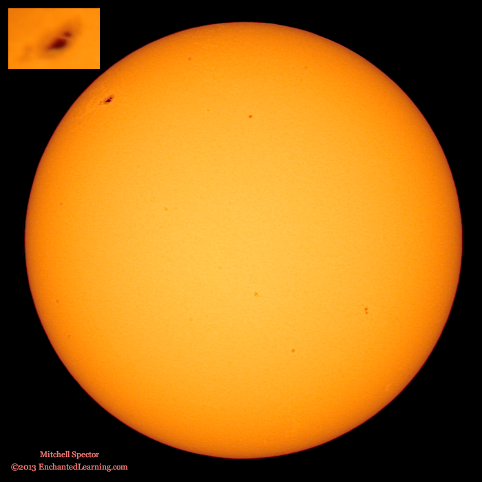 The Sun with One Large Sunspot