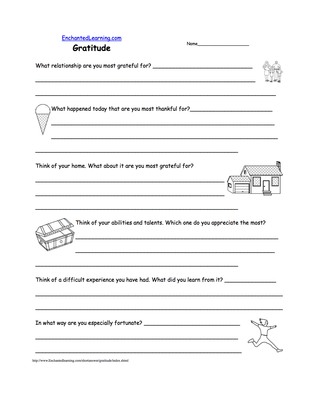 Thanksgiving Writing Worksheets EnchantedLearning – I Am Thankful for Worksheets