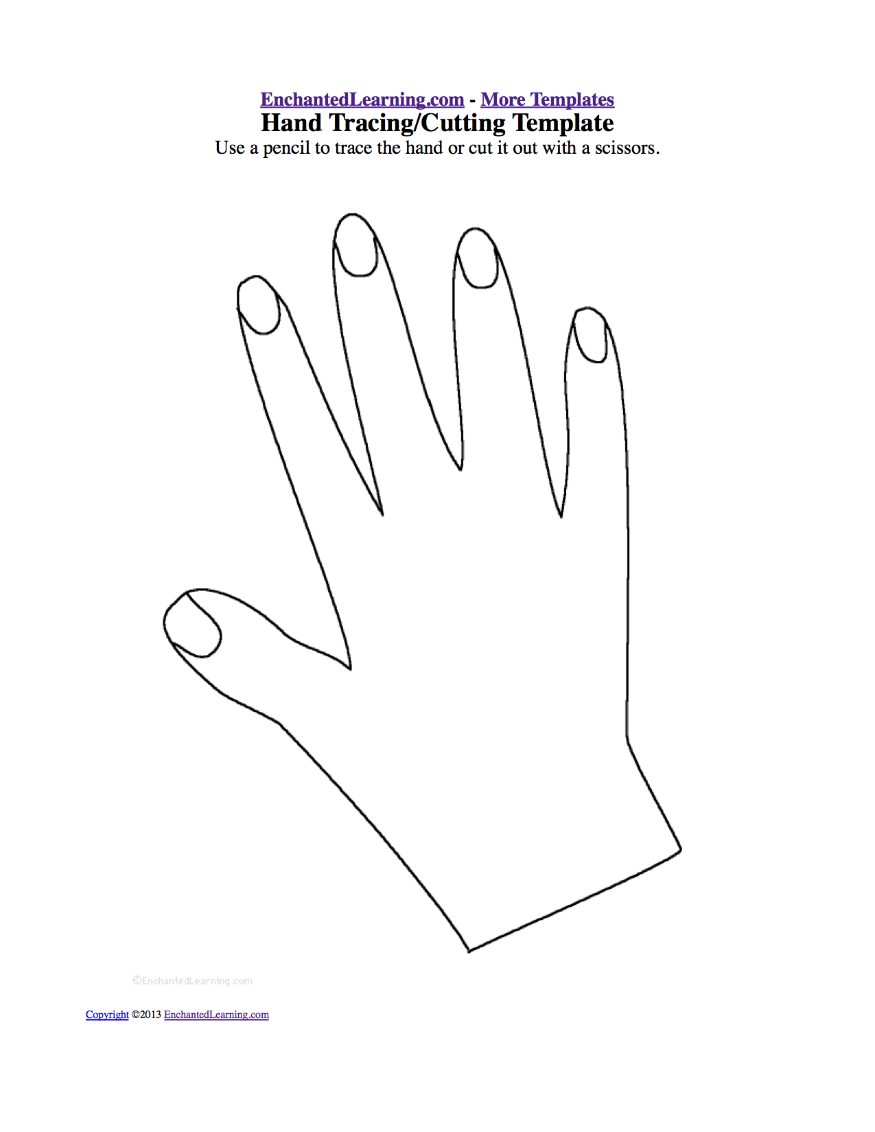 footprint cut out template - body theme page at