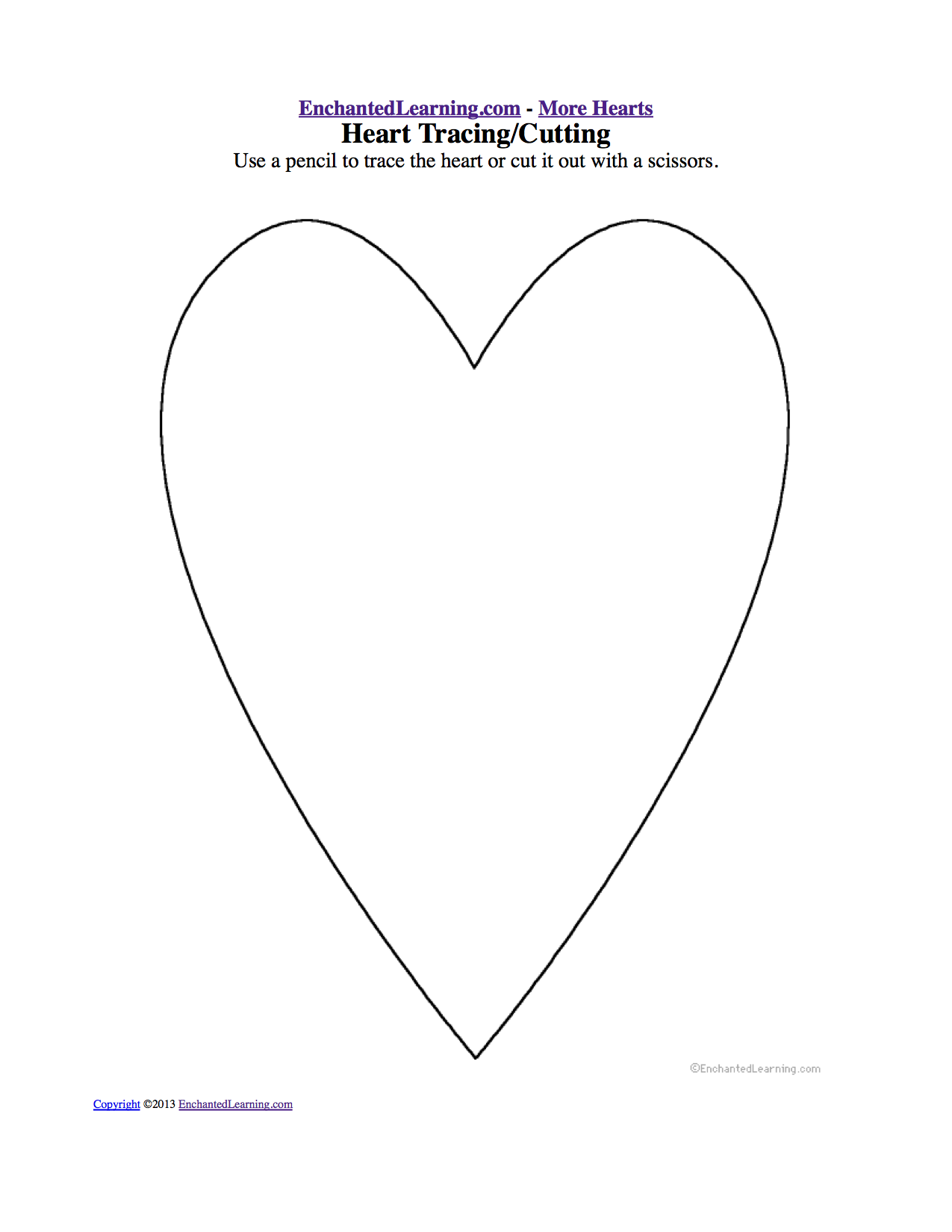 Coloring shapes worksheet - Heart