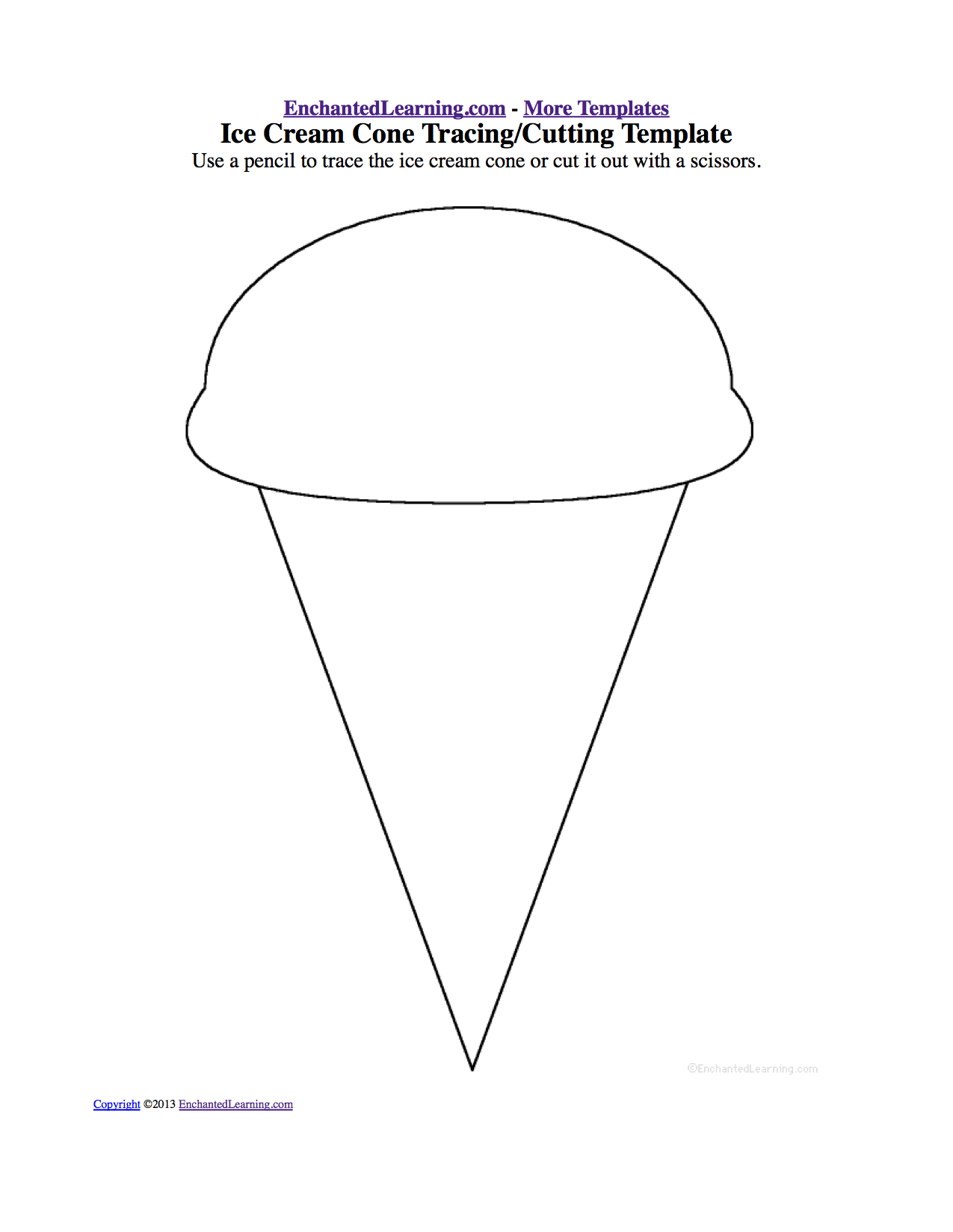 ice cream theme page at enchantedlearning com