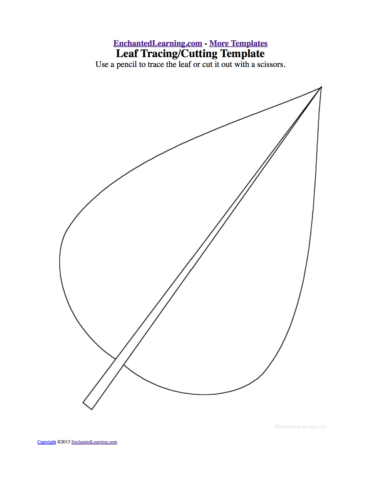 Cutting Plants Drawing Trace or Cut Out The Leaf