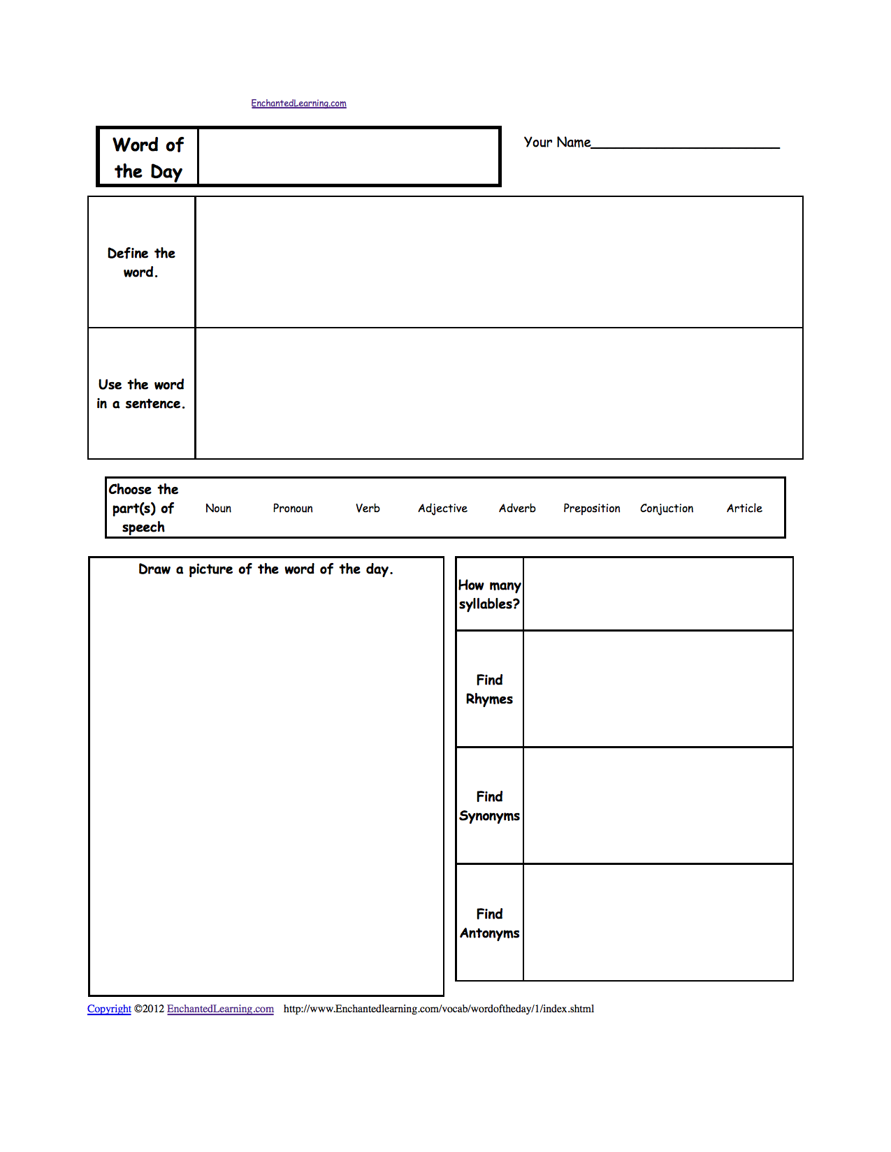Thanksgiving Crafts Worksheets And Activities EnchantedLearningcom - Free invoice templates pdf american girl doll store online
