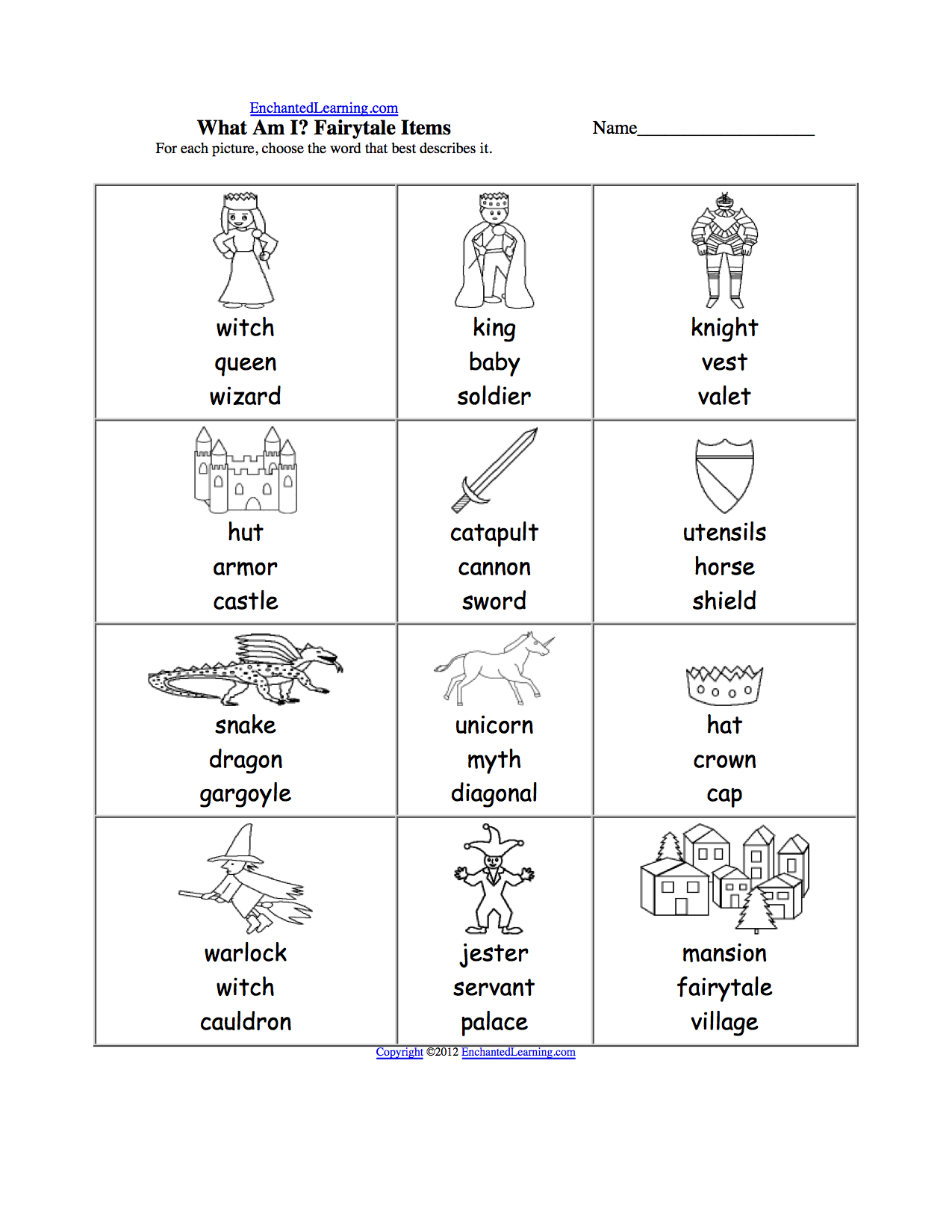 Spelling Worksheets Kings Queens And Castles K Theme Page At