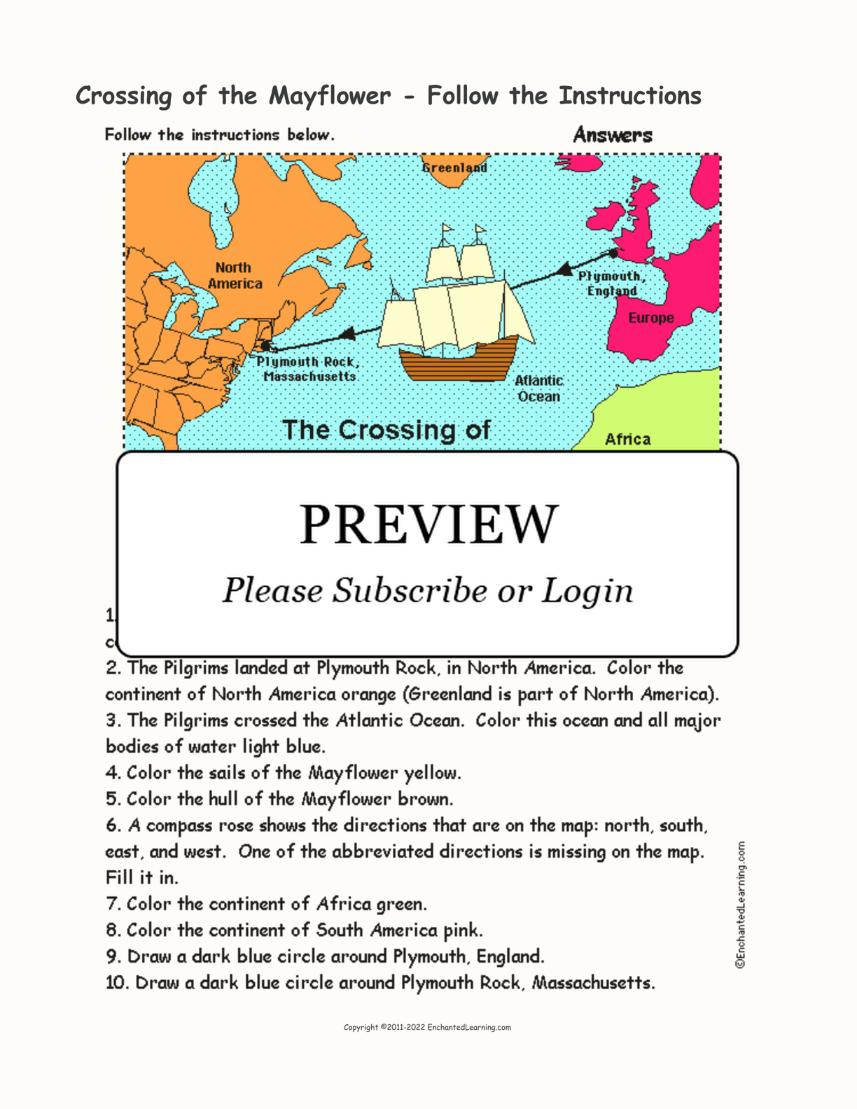 Crossing of the Mayflower - Follow the Instructions ...