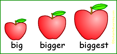 comparative and superlative adjectives enchantedlearning com