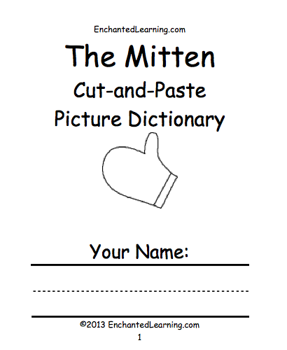graphic regarding The Mitten Animals Printable titled The Mitten -