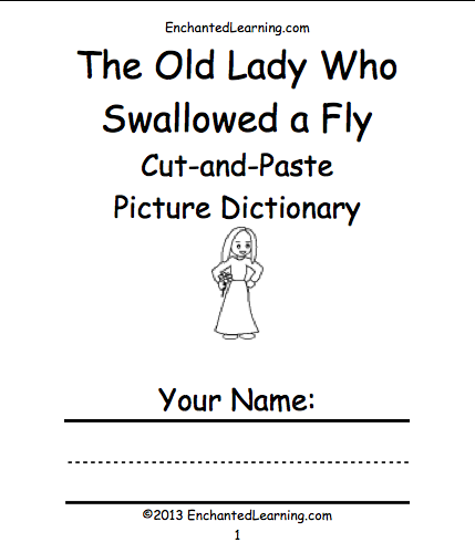 graphic about There Was an Old Lady Printable Template named The Previous Woman Who Swallowed a Fly -