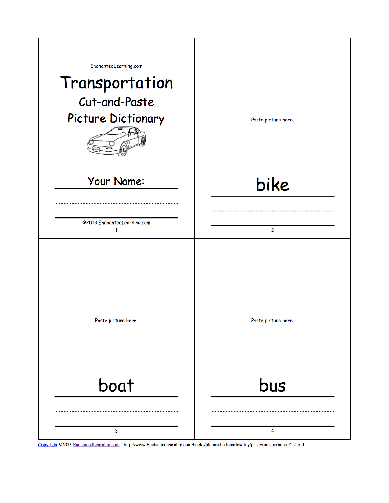 Transportation CutandPaste Picture
