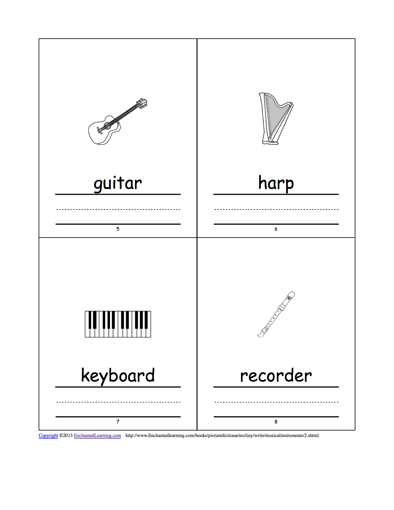 Musical Instruments Tiny Picture Dictionary - A Short Book ...