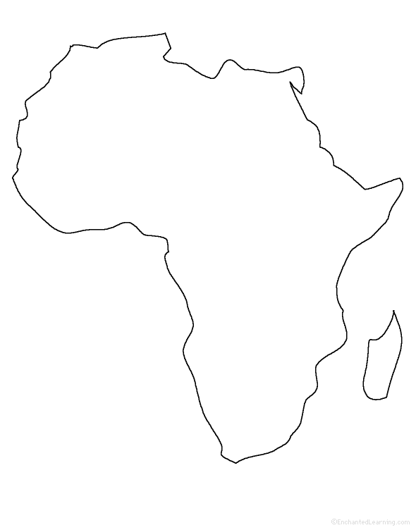 Plain Africa Map.Africa Enchantedlearning Com