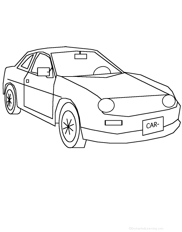 car tracing cutting template enchantedlearning com