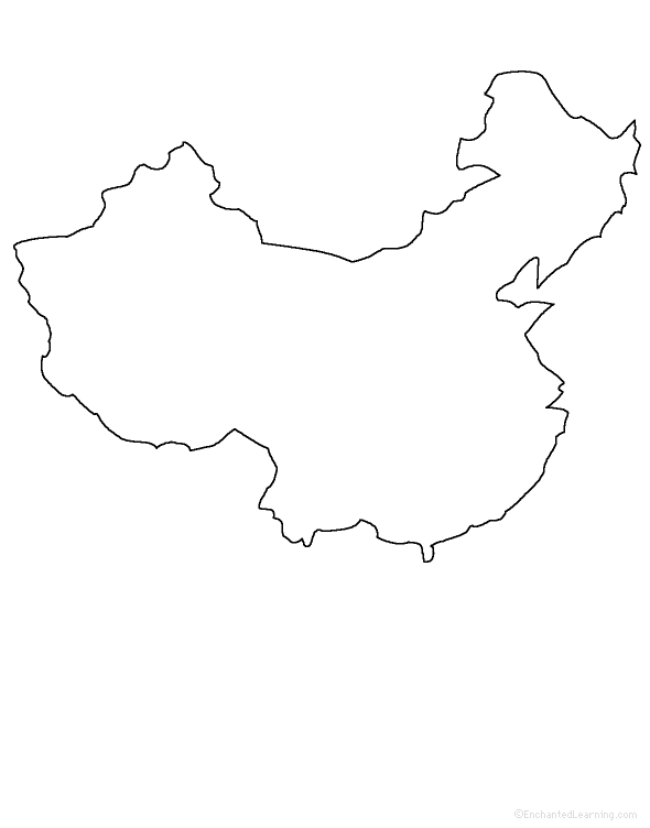 Map Of Asia Outline Printable.Asia Enchantedlearning Com