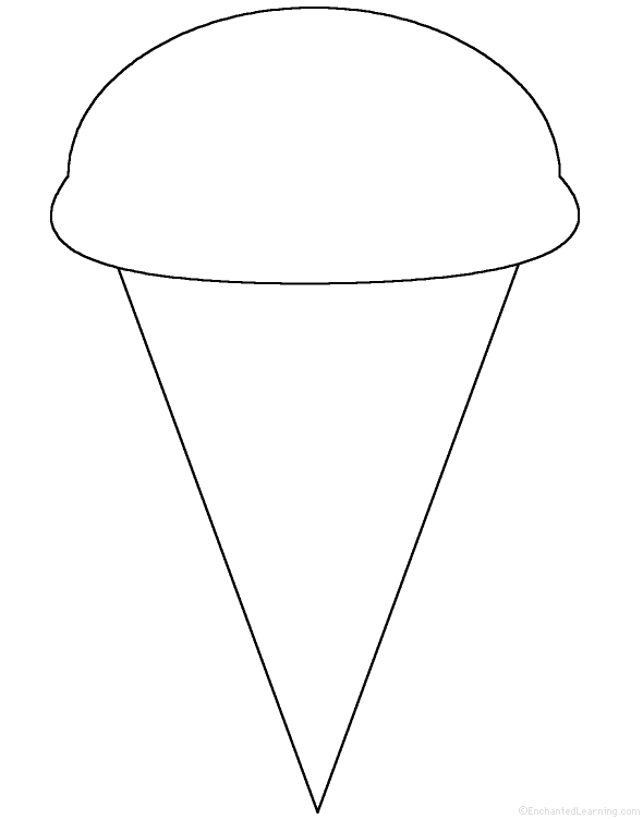 picture relating to Printable Ice Cream Cone Template named Ice Product Cone: Perimeter Poem - Printable Worksheet