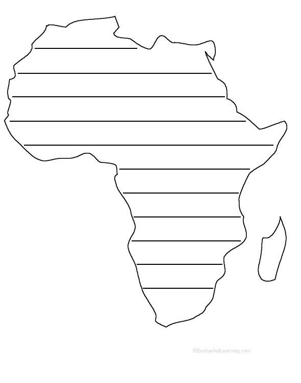 graphic about Africa Printable Map known as Africa -