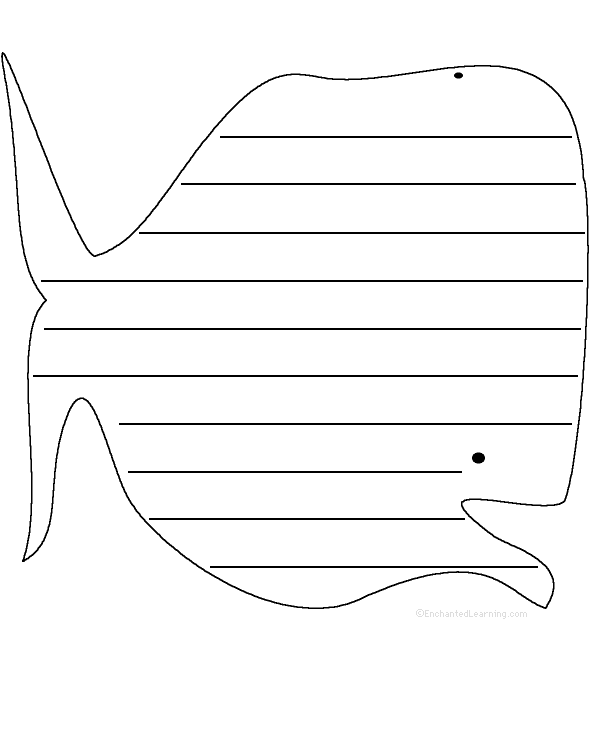 photo relating to Whale Template Printable known as Whale: Condition Poem - Printable Worksheet.