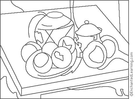 enchanted learning artists coloring pages - photo#6