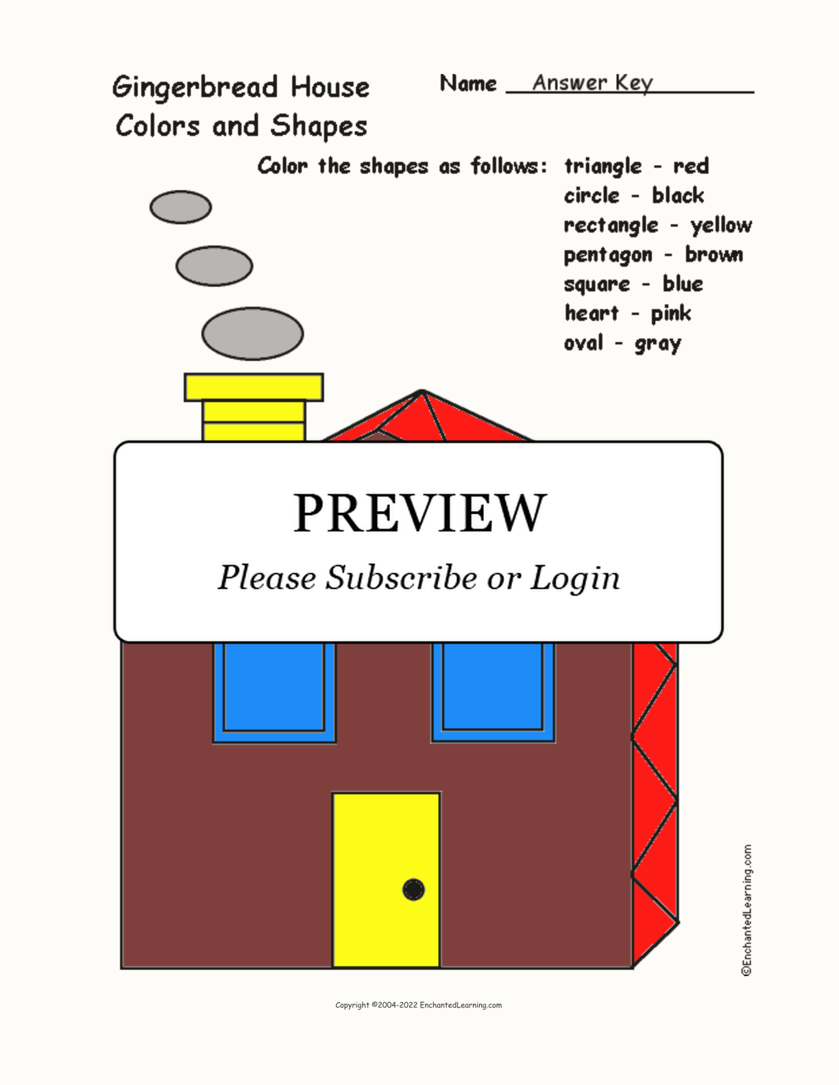 Gingerbread House: Colors and Shapes interactive worksheet page 2