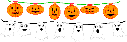 String of Jack-O'-Lanterns or Ghosts