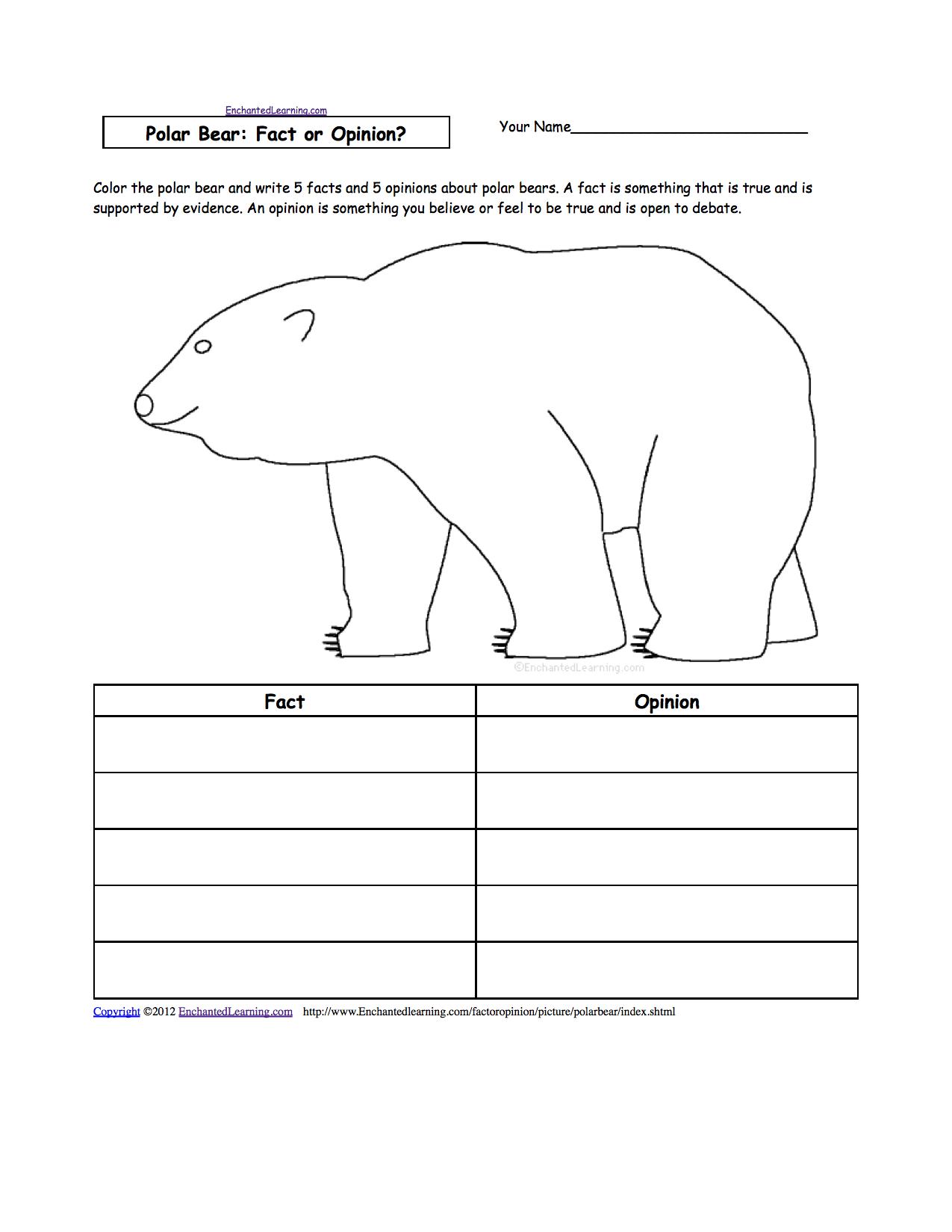 Animal Writing Worksheets At Enchantedlearning