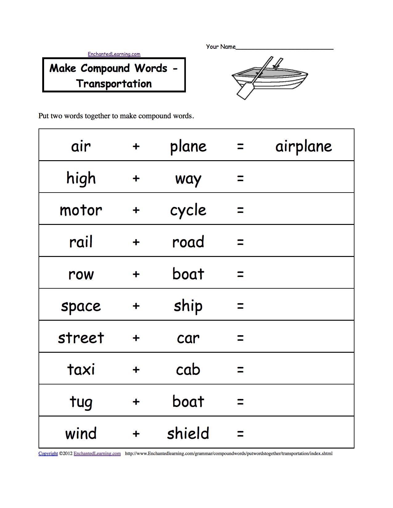 spelling worksheets transportation vehicles at. Black Bedroom Furniture Sets. Home Design Ideas