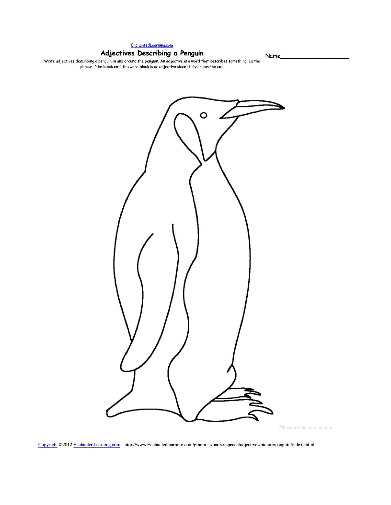 Penguins At EnchantedLearning