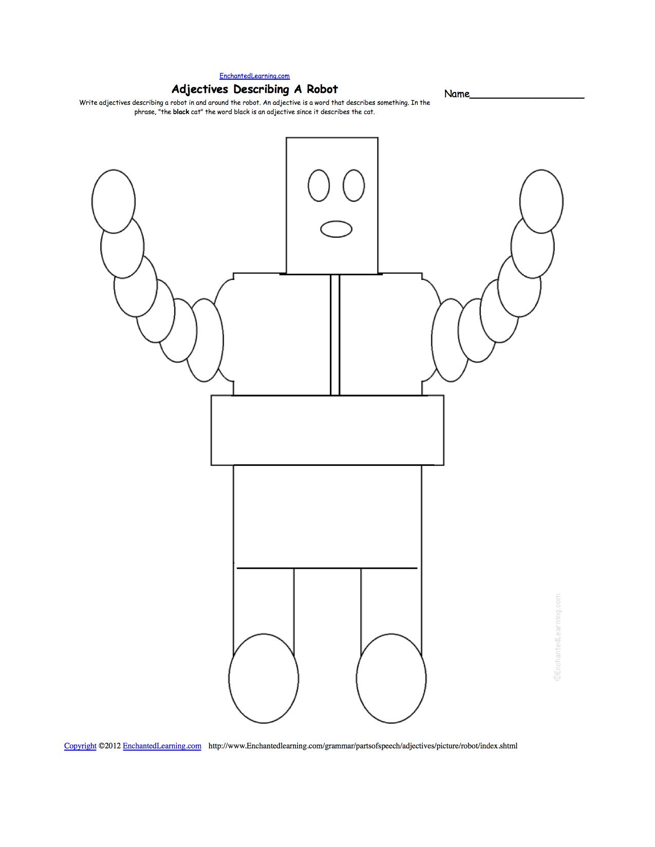 Write Adjectives Describing A Picture - Printable Worksheets
