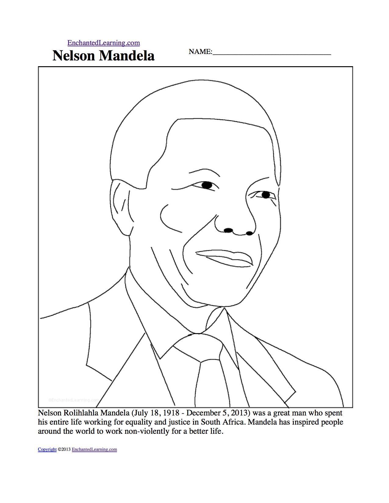 Nelson Mandela  Enchantedlearningcom Nelson Mandela Printout Business Ethics Essays also Health And Fitness Essays  Online Writing Gigs