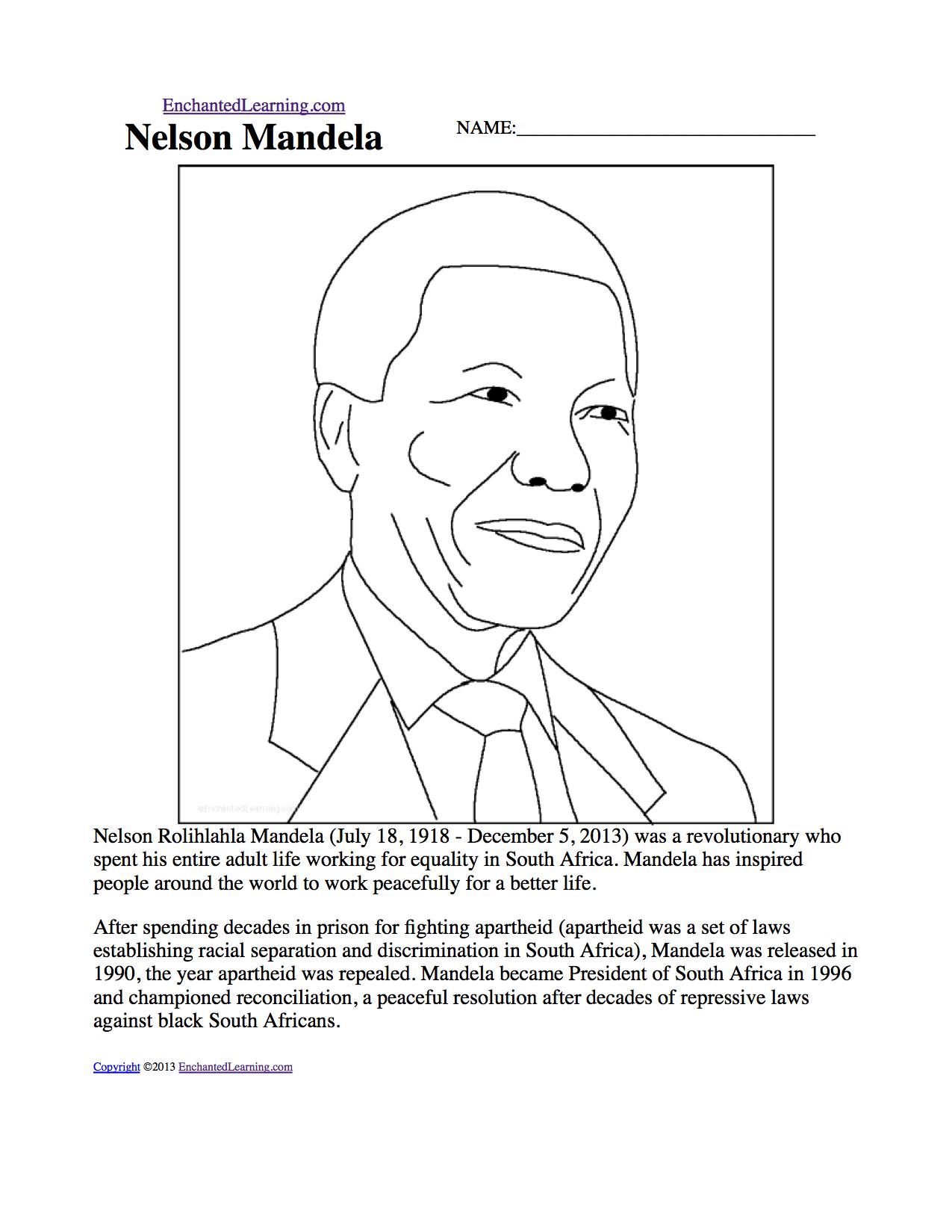 Nelson Mandela - EnchantedLearning com
