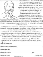 Nelson Mandela  Enchantedlearningcom Nelson Mandela