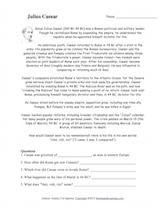 Julius Caesar Read and Answer. EnchantedLearning.com