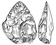 Acheulean stone tool from the early Paleolithic