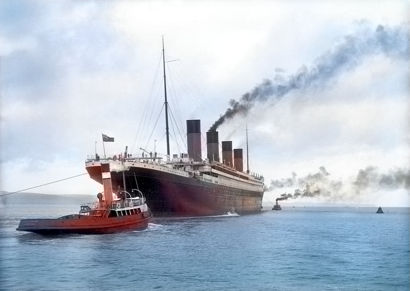 The Titanic before its maiden voyage