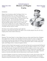 Magna Carta: Cloze Activity - EnchantedLearning.com