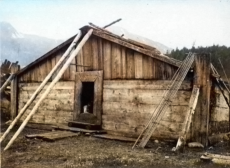 Chilkat plank house, Chilkoot, Alaska, 1894