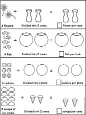 visual division printouts  enchantedlearningcom divide by