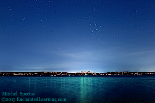 Bellevue and Lake Washington under the Stars