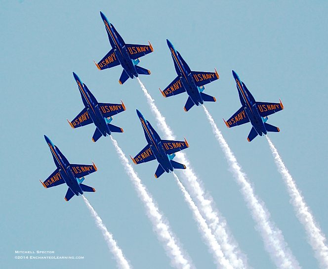 Blue Angels in Delta Formation over Seattle