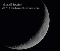 Waxing Crescent Moon, from Three Photos in One Evening